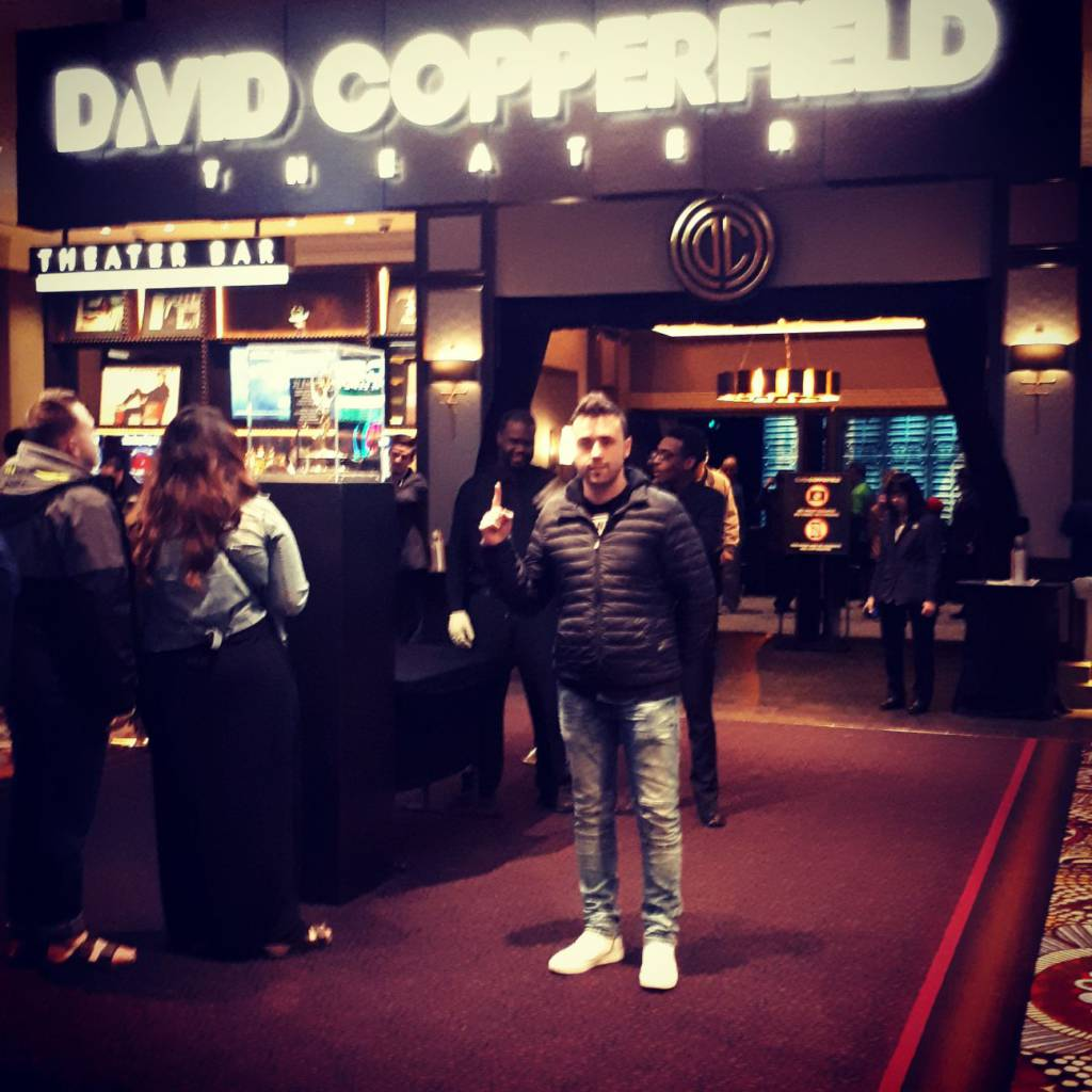 Mago Xuso en el teatro de David Copperfield